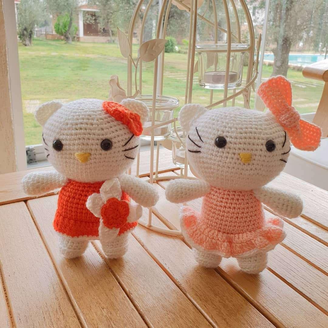 Free Amigurumi Hello Kitty Patterns • wixxl | 1080x1080